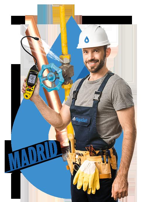 reparación fugas de gas natural en Madrid