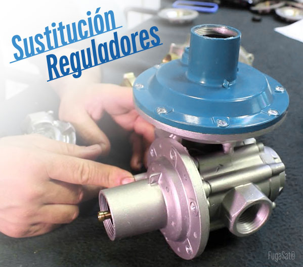 sustitución de reguladores gas natural